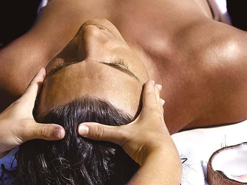Teplá kokosová aroma terapie
